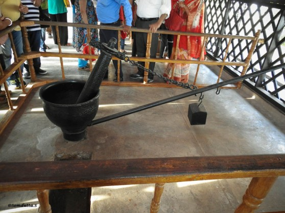 The Manual Oil Grinder where it was used as a punishment for all not surrendering