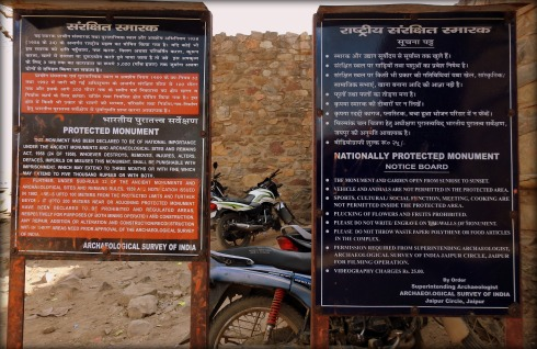 These are situated outside the gates of Bhangarh Fort